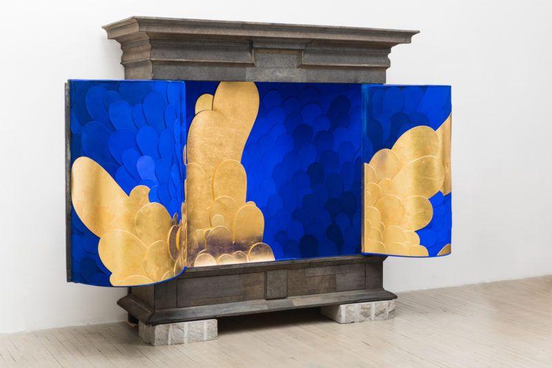 Todd Merrill Studio's 'Blue Tie Roofing' Modern Cabinet