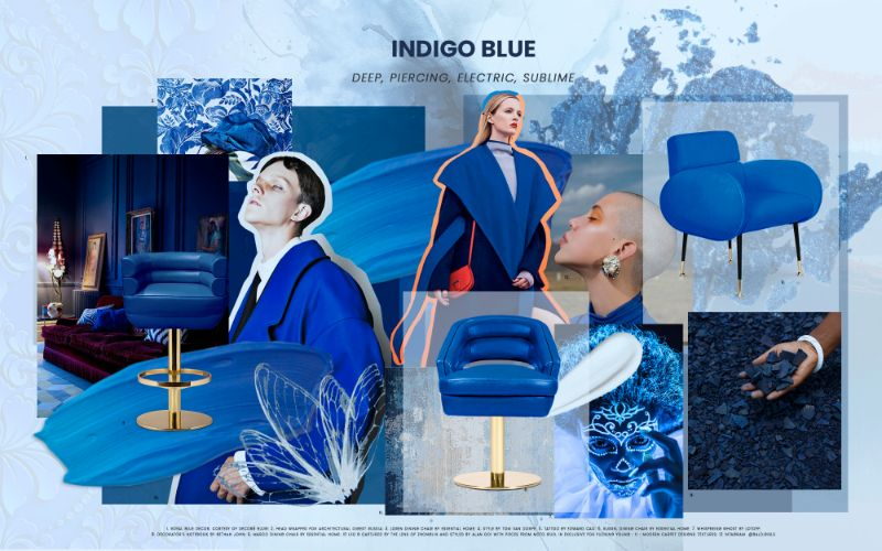 Electric Interior Design Trends in Indigo Blue